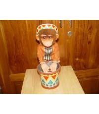 ลิงตีกลอง ของเล่นสังกะสี ใช้ถ่านแบตเตอรี่ JAPAN