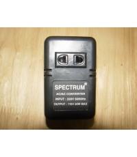SPECTRUM หม้อแปลงไฟ 110V 50 Watt ขนาดพกพา ใช้งานได้ปกติ