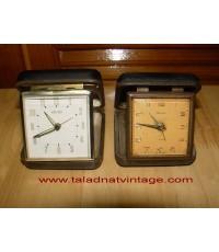 นาฬิกาปลุกโบราณแบบพกพา ไขลาน2เรือน เยอรมัน และ ญี่ปุ่น ใช้งานได้ปกติ