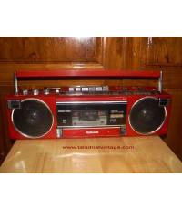 วิทยุเทป National F2 สีแดง ใช้งานได้ปกติ