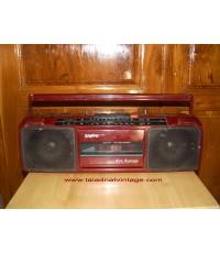 วิทยุเทป SANYO M7024K ใช้งานได้ปกติ