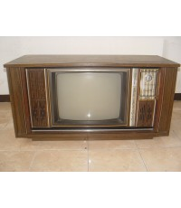 TV Philco ทีวีตู้ไม้บานเลื่อน 20 นิ้วสภาพสวยสมบูรณ์