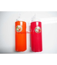 ขวดใส่ซอสตัวแดง/ส้ม ฝาขาว PNB564n
