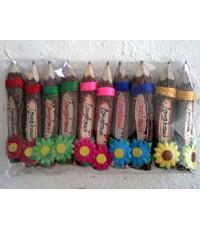 ดินสอไม้,Wooden pencil ,handicraft  ดินสอไม้ ขนาดดินสอ เป็นงานแฮนเมด งานเพ้นสี ของชำร่วย ส่งเป็นของข