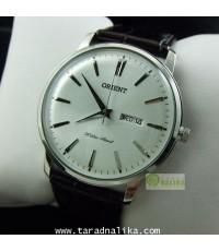 นาฬิกา Orient ควอทซ์ ORUG1R003W simply design สายหนังแนวย้อนยุค