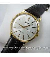 นาฬิกา Orient ควอทซ์ ORUG1R001W simply design สายหนังแนวย้อนยุค