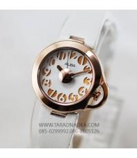 นาฬิกา ALBA modern lady pinkgold AH8124X1 สายหนังสีขาว