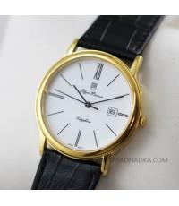 นาฬิกา Olym pianus sapphire quartz 130-10G-405E สายหนัง เรือนทอง