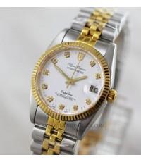 นาฬิกา Olym pianus sportmaster Automatic sapphire 89322AM-306 สองกษัตริย์ หน้าัปัดขาว