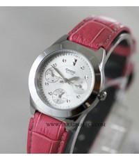 นาฬิกา CASIO lady LTP-2083L-4AVDF สายหนังชมพู