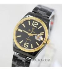 นาฬิกา Olym pianus sapphire Gent 89341m-630 black ip