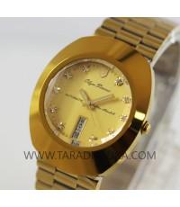 นาฬิกา Olym pianus Automatic gent sapphire 82171A-306 เรือนทอง กันริ้วรอย