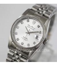 นาฬิกา Olym pianus sportmaster Automatic sapphire 89322AM หน้าปัดเงิน