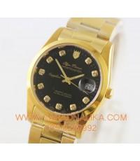 นาฬิกา Olym pianus sapphire 8934M-616 เรือนทอง หน้าปัดดำ
