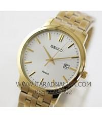 นาฬิกา SEIKO ควอทซ์ Gent หรูเรียบ ภูมิฐาน SUR112P1 เรือนทอง