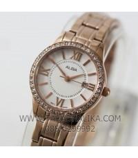 นาฬิกา ALBA modern ladies crystal AH7E34X1 เรือนทอง pinkgold