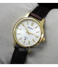 นาฬิกา SEIKO modern lady ควอทซ์ SUR890P1 สายหนัง
