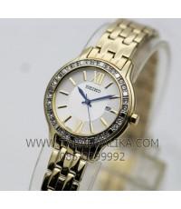 นาฬิกา SEIKO modern lady crystal ควอทซ์ SXDG76P1 เรือนทอง