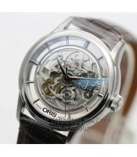 นาฬิกา Oris Artelier Translucent Skeleton 73476844051FC สายหนัง เปลือยหน้าหลัง