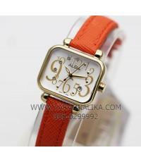 นาฬิกา ALBA modern ladies crystal AH7K10X1 สายหนังสีส้ม
