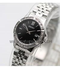 นาฬิกา SEIKO modern lady crystal ควอทซ์ SUR733P1