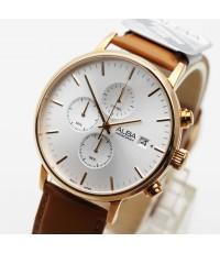 นาฬิกา ALBA Smart gent AM3356X1 pinkgold สายหนัง