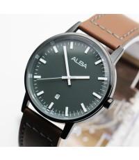 นาฬิกา ALBA Smart gent AG8H27X1  รมดำสายหนัง