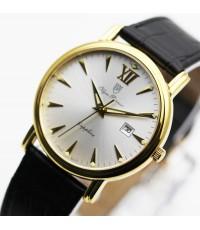 นาฬิกา Olympia Pianus sapphire quartz 130-07M-405E เรือนทอง หน้าขาว