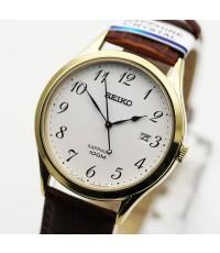 นาฬิกา SEIKO ควอทซ์ sapphire Gent SGEH78P1 เรือนทอง