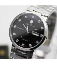 นาฬิกา Olym pianus sportmaster automatic sapphire 8909AM-434 หน้าปัดดำ