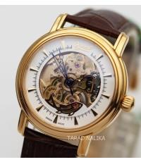 นาฬิกา Ogival classic automatic skeleton pinkgold สายหนัง 358-61-8045