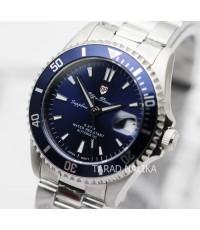 นาฬิกา Olym pianus Automatic submariner sapphire 89983AM-434 blue dial