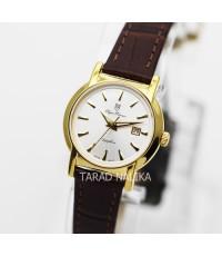 นาฬิกา Olympia Pianus sapphire lady 5700L-403E เรือนทอง หน้าขาว