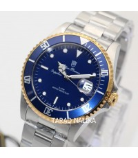 นาฬิกา Olym pianus sapphire submariner 89983G-430 King Size หน้าน้ำเงินขอบ pinkgold