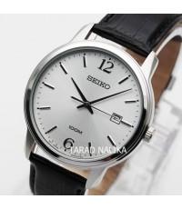 นาฬิกา SEIKO ควอทซ์ Gent SUR265P1 สายหนัง