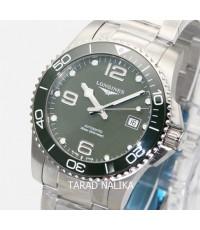 นาฬิกา Longines Hydro Conquest automatic ceramic L3.782.4.06.6 Green 43 mm.