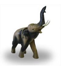 ไม้แกะสลัก ช้างชูงวง 6 นิ้ว TM06