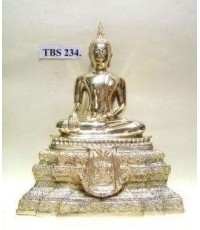 พระบูชา พระพุทธชินสีห์ หน้าตัก 5 นิ้ว วัดบวรนิเวศวิหาร เนื้อทองเหลือง ตรากาญจนาภิเษก