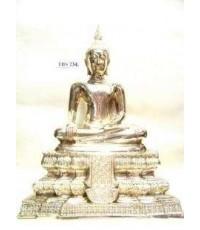 พระบูชาหลวงพ่อวัดไร่ขิง วัดไร่ขิง จ.นครปฐม หน้าตัก 9นิ้ว เนื้อทองเหลือง เสริมสิริมงคลชีวิต
