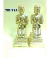 พระบูชา พระโมคคัลลานะ-พระสารีบุตร สูง 8.25 นิ้ว เนื้อทองเหลือง พระอัครสาวกแห่งพระพุทธองค์
