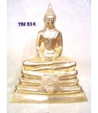 พระบูชาหลวงพ่อพระพุทธโสธร หน้าตัก 9 นิ้ว ( เนื้อทองเหลืองปิดทอง ) ประดับตราสัญลักษณ์ ภปร. ปี2535