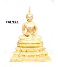 พระบูชา พระพุทธสิหิงค์ หน้าตัก 5 นิ้ว เนื้อทองเหลืองปิดทอง ประเสริฐ ธ เกริกไกร ดุจกายพระศาสดา