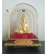 พระบูชาหลวงพ่อทอง วัดเขาตะเครา หน้าตัก 3 นิ้ว จ.เพชรบุรี ทองเหลืองปิดทอง เสริมมงคลชีวิต