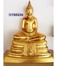 พระบูชาหลวงพ่อโสธร วัดโสธรวรารามวรวิหาร หน้าตัก 9 นิ้ว ภปร. เนื้อทองเหลืองปิทอง ปี2536