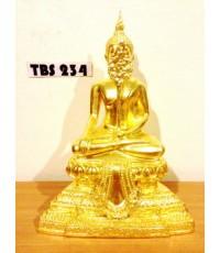 พระบูชา พระชัยหลังช้าง หน้าตัก 5 นิ้ว เนื้อทองเหลืองปิดทอง ชัยชนะอุปสรรคทั้งปวง สิริมงคลชีวิต