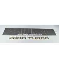 ISUZU ดราก้อน สติ๊กเกอร์ฝาท้าย ISUZU 2800 TURBO ปี 97 สีดำ+ทอง ของเทียม
