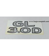 TOYOTA TIGER สติ๊กเกอร์ฝาท้าย โตโยต้า 98-00 GL+3.0D ตัวอ้วน
