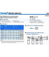 ไมโครสวิทซ์ ชนิดธรรมดาและชนิดกันน้ำ (MICRO SWITCHES IP40 และ IP65)