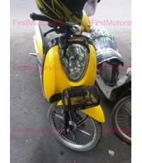 ตะกร้า Scoopy-I Honda ทรงกระบอก แนวนอน สีขาว 5*8 นิ้ว