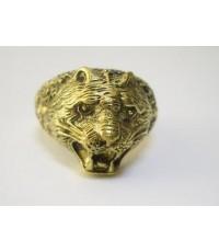 แหวนหัวเสือ สัญลักษณ์แห่งอำนาจและพลังความฮึกเหิม เนื้อทองเหลือง
